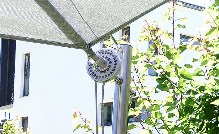 Soliday-MA Ihr manuell aufrollbares Sonnensegel
